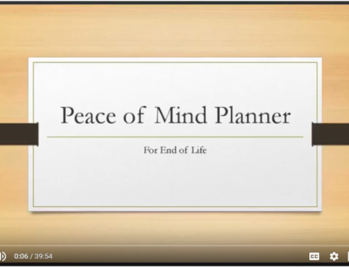 Free Peace of Mind Planner Webinar TONIGHT!