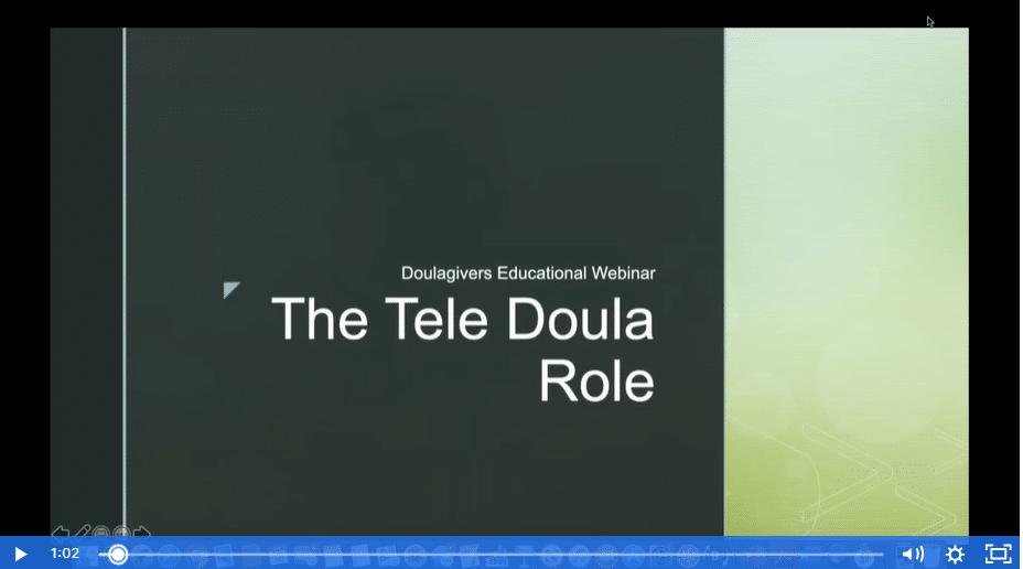 slide of tele doula role